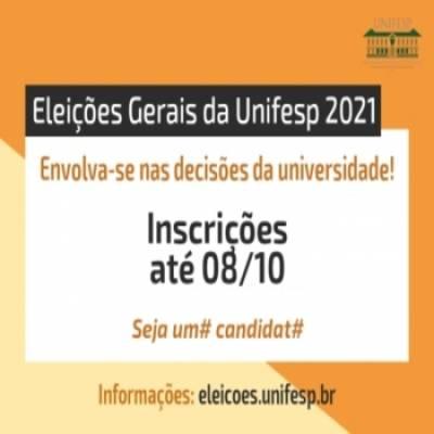 Eleições Gerais da Unifesp - Inscrições abertas